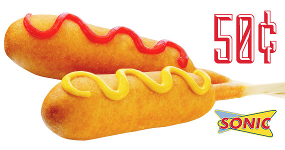 Today ONLY: $0.50 Corn Dogs at Sonic Drive-In