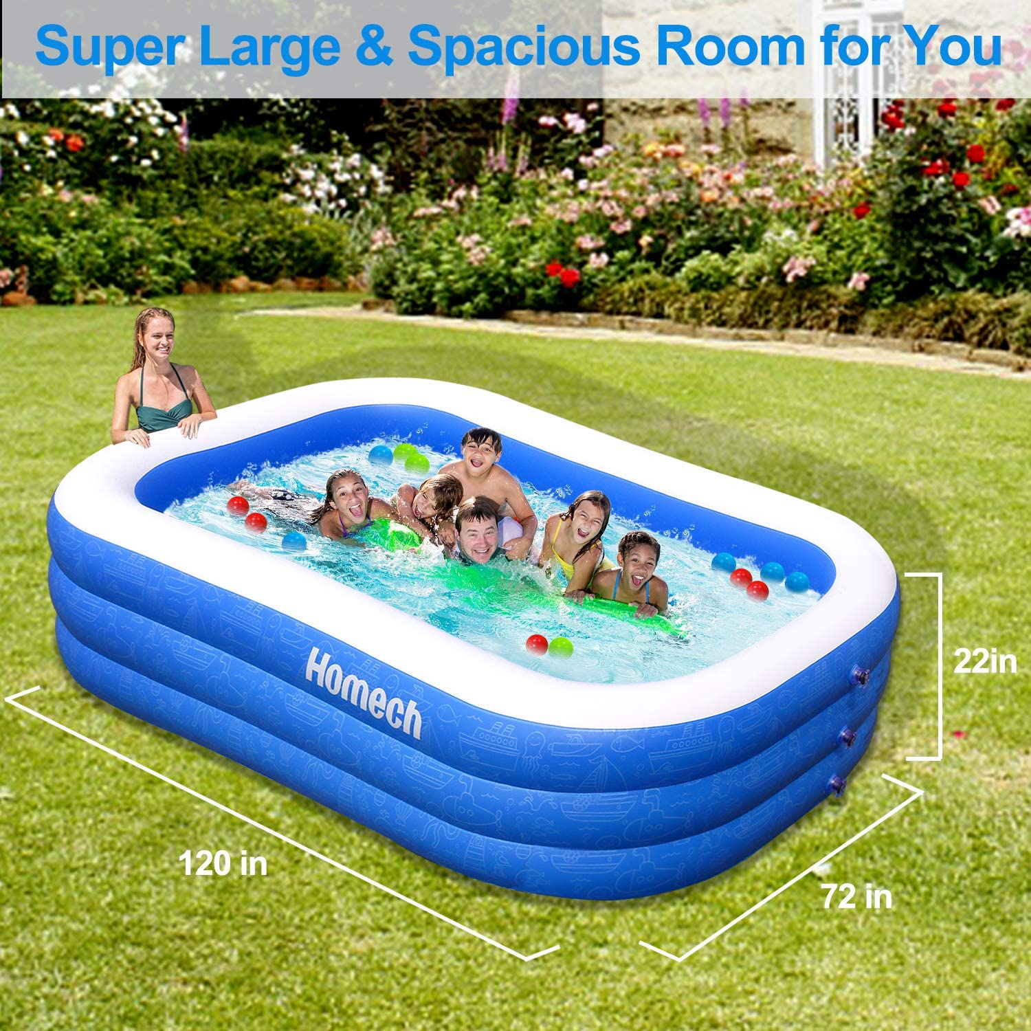 Family Inflatable Swimming Pool $139.99 + FREE Shipping!