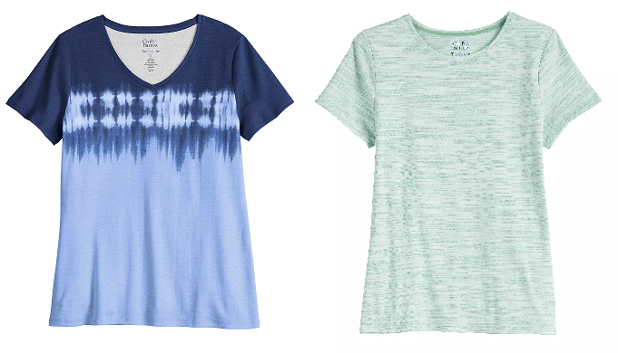 Women's Croft & Barrow Tees For JUST $3.99 Each At Kohl's (Regularly $13)