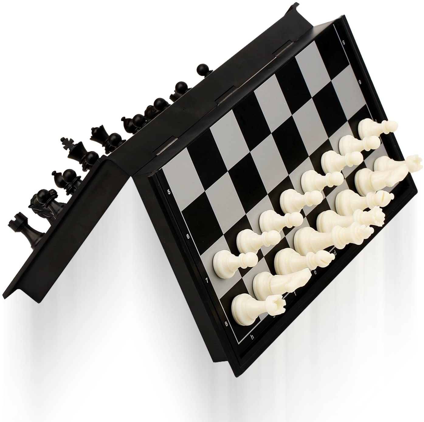 Magnetic Travel Chess Set With Folding Chess Board Only $10.92 (Was $21.99)