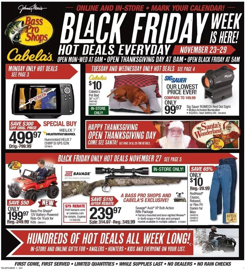 Bass Pro Shops Black Friday Ad Preview
