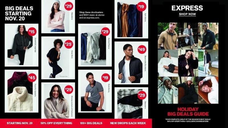 Express Black Friday Ad