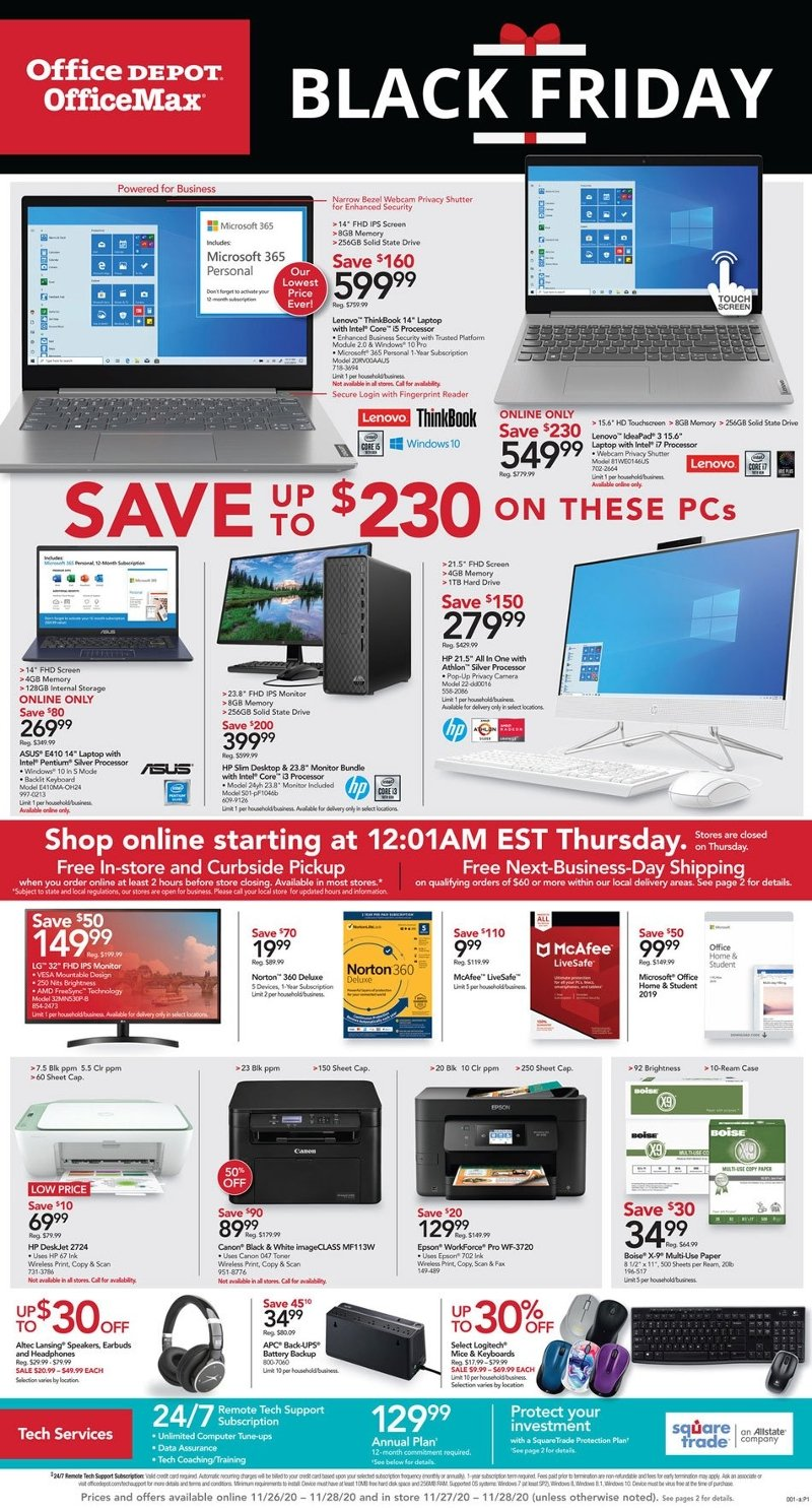 Office Depot & OfficeMax Black Friday Ad Preview