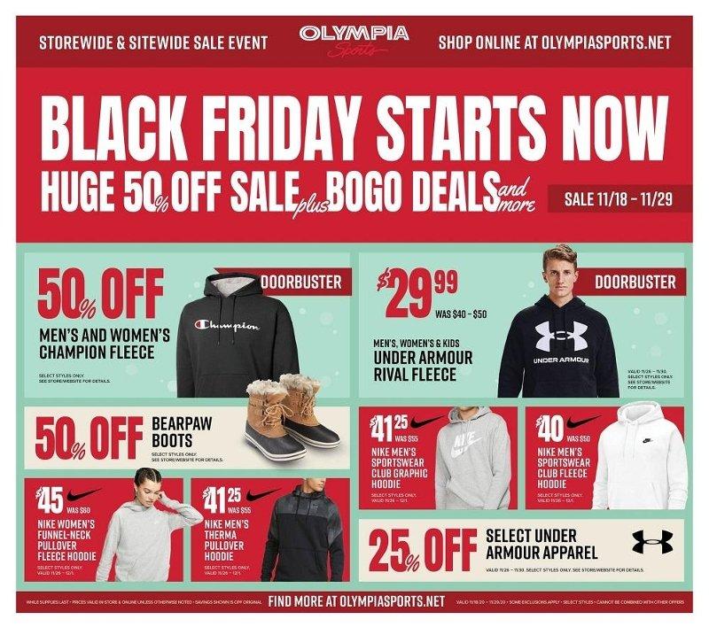 Olympia Sports Black Friday Ad