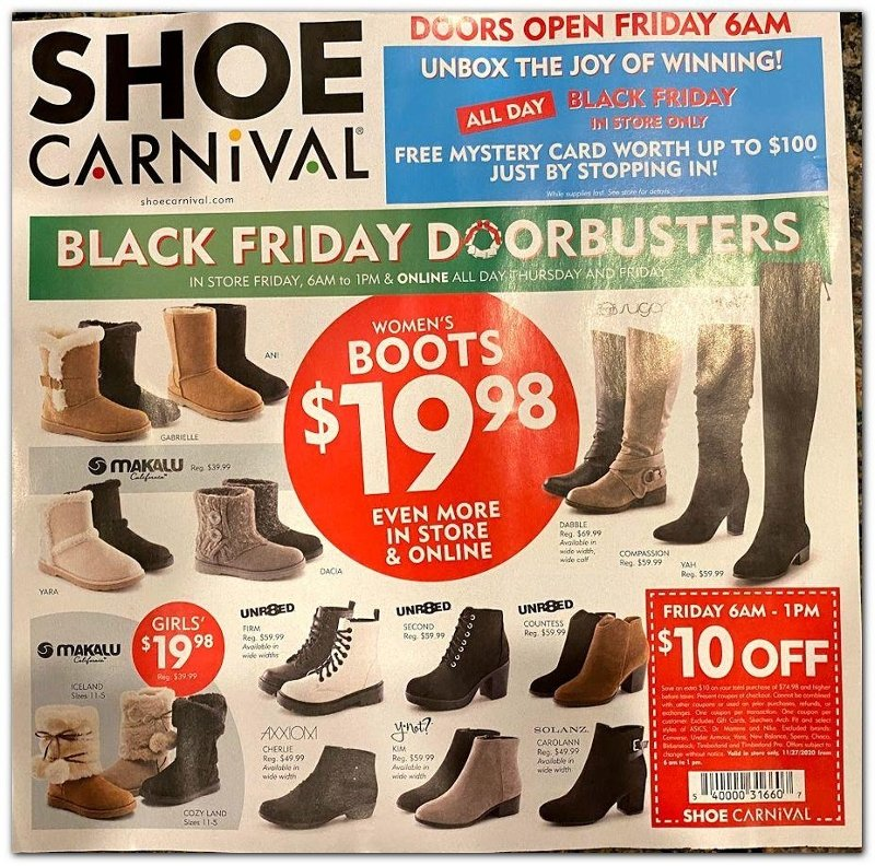 Shoe Carnival Black Friday Ad Preview