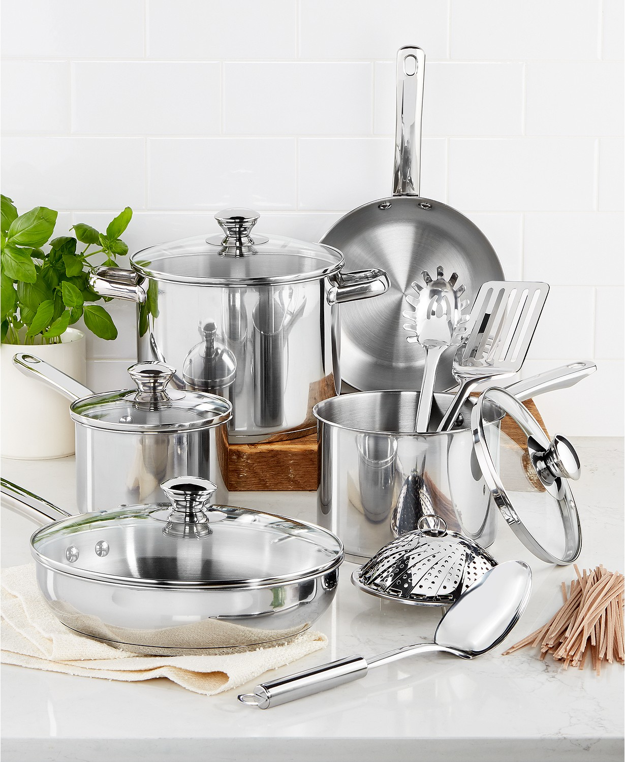 Stainless Steel 13-Pc. Cookware Set Only $29.99 (Was $119.99)