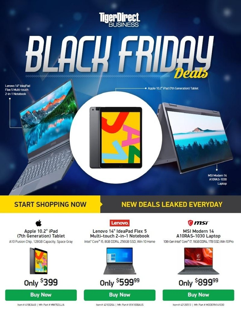 Tiger Direct Black Friday Ad Preview