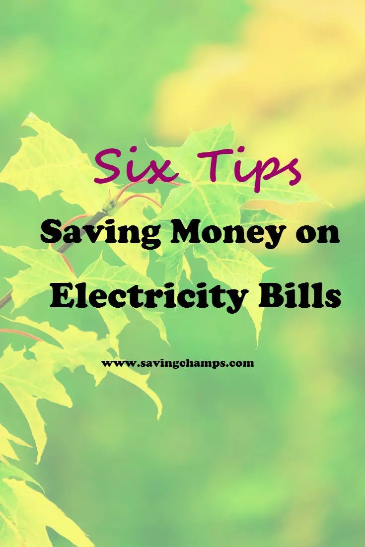 There are six easy tips on lowering your electricity bills. Getting started implementing the following tips to cut your electricity spending. | save money on electricity, save money on energy, save money on utilities.