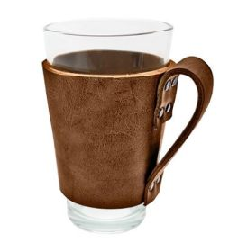 Rustic Leather Pint Sleeve with Handle
