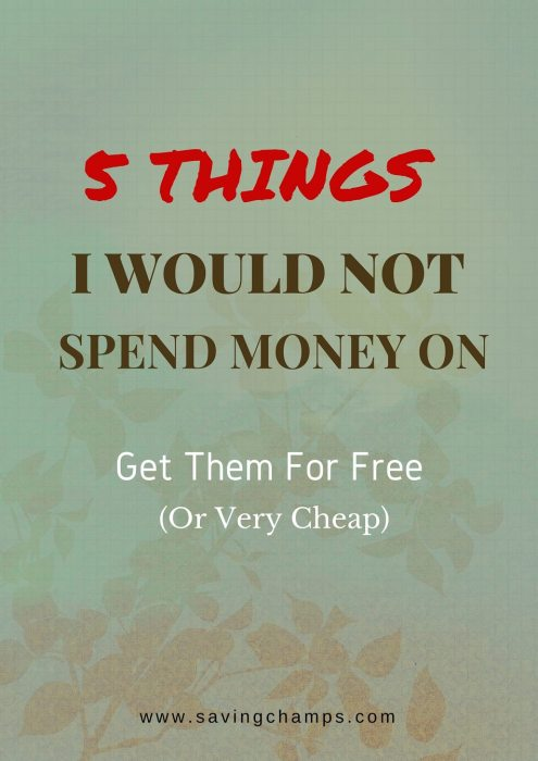 things not to spend money on