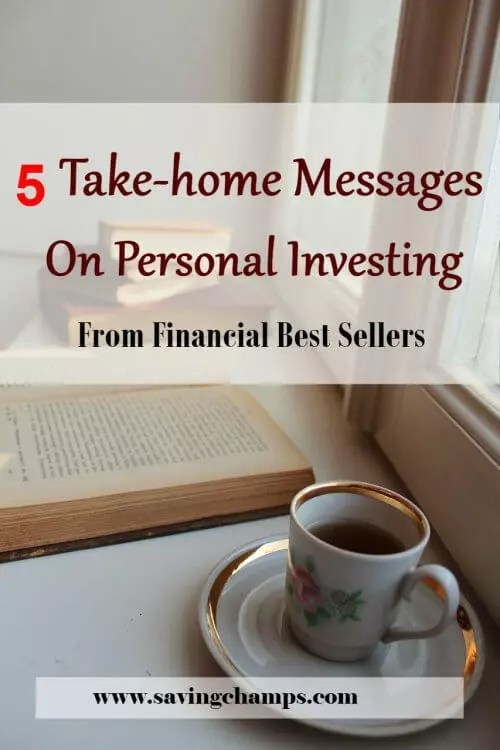 Here are five best investment books I recent read and the take-home messages from these books. I recommend new investors read these financial best sellers. | personal finance, investment, financial best sellers.