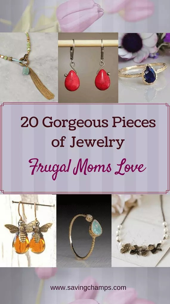 Treat the awesome moms in your life with these gorgeous pieces of jewelry at affordable prices. | mom gifts; jewelry; frugal living; mother's day gift