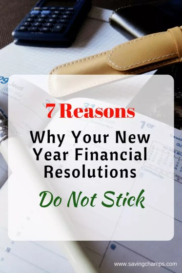 reasons why financial resolutions don't stick