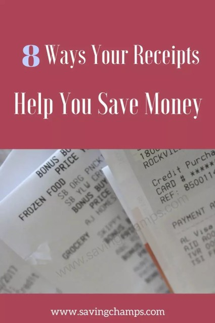 save receipts