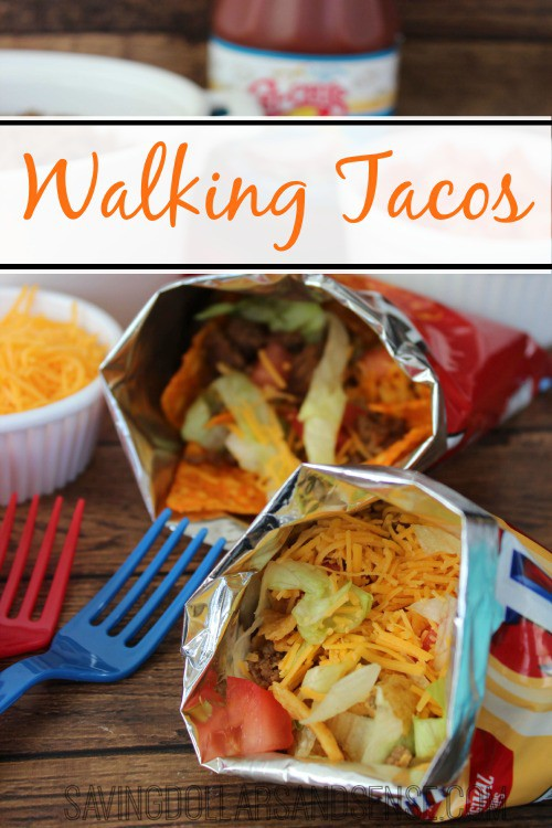 Walking Tacos from Saving Dollars and Sense [Cinco de Mayo Ideas at High-Heeled Love]