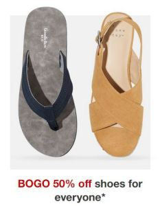 EXPIRED – Target | Buy One Get One 50% Off Shoes