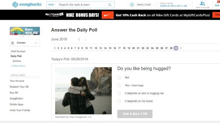 Swagbucks poll