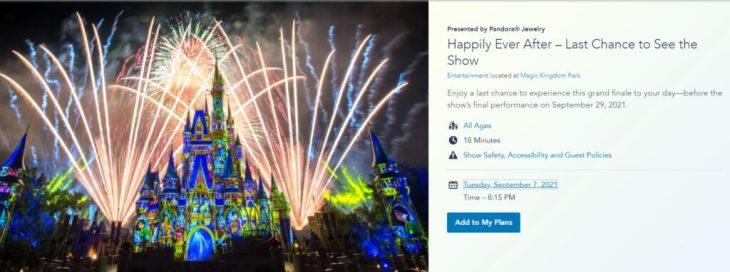 Happily ever after fireworks ending