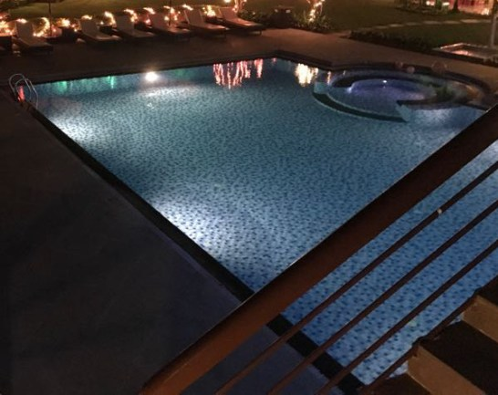 our swimming pool at a nearby 5-star hotel