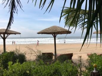 Sun chair on beach