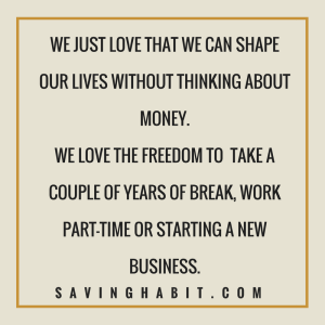 what we love about financial independence
