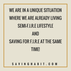 Living Semi-fire lifestyle