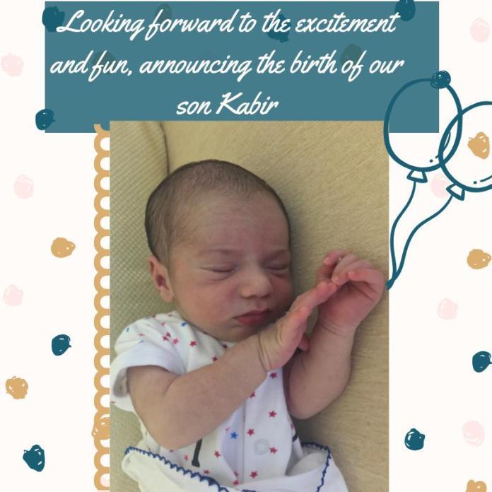 Baby birth announcement