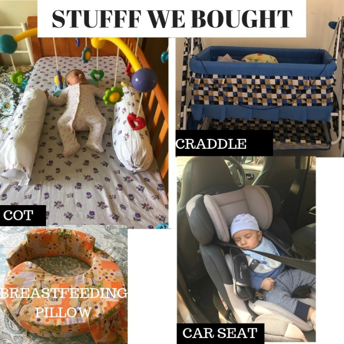 Things we bought for Kabir