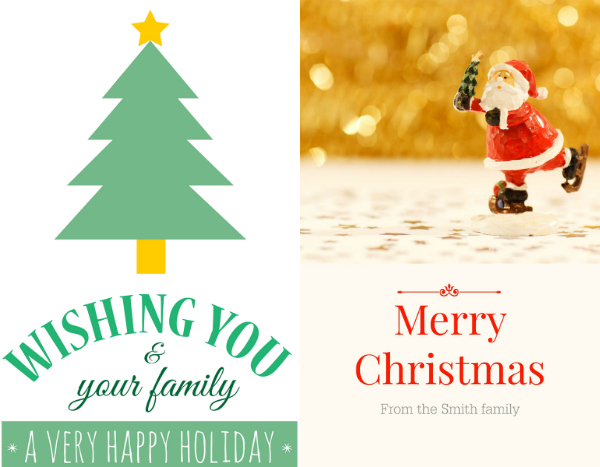 5 frugal Christmas card ideas. Sites like PicMonkey and Canva make it easy to design your own Christmas cards
