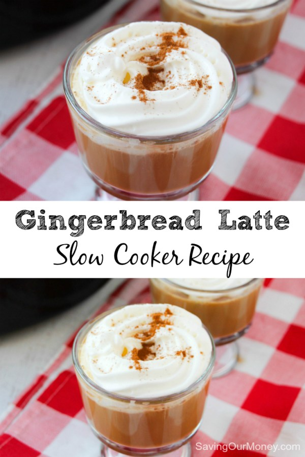 Slow cooker gingerbread latte recipe - an easy and delicious recipe for the holidays