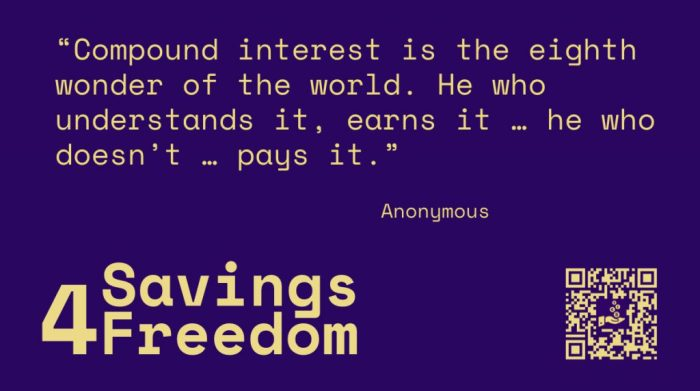 Savings4Freedom Quote Anonymous