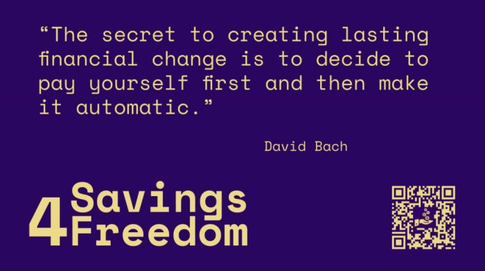 Savings4Freedom Quote David Bach