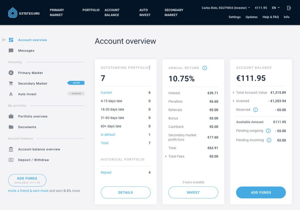 EstateGuru Update SavingsForFreedom September 2020