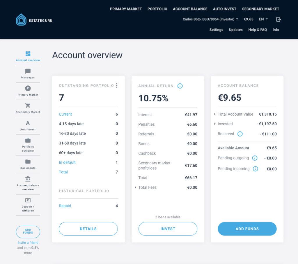 EstateGuru Update SavingsForFreedom October 2020