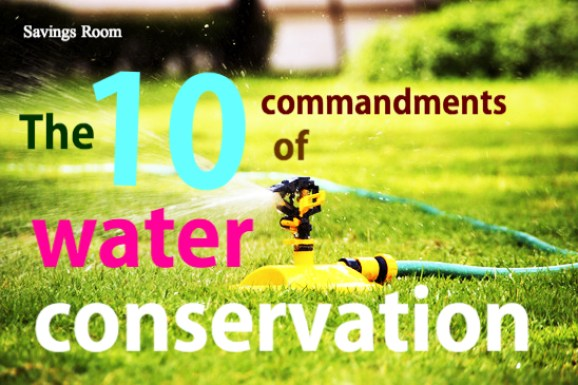 The 10 commandments of water conservation