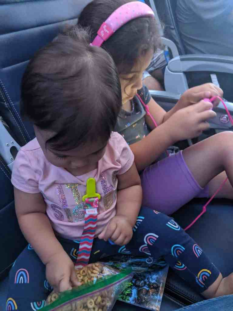 long airline flight with toddlers