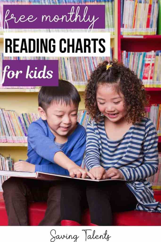 Free Printable Monthly Reading Charts for Kids