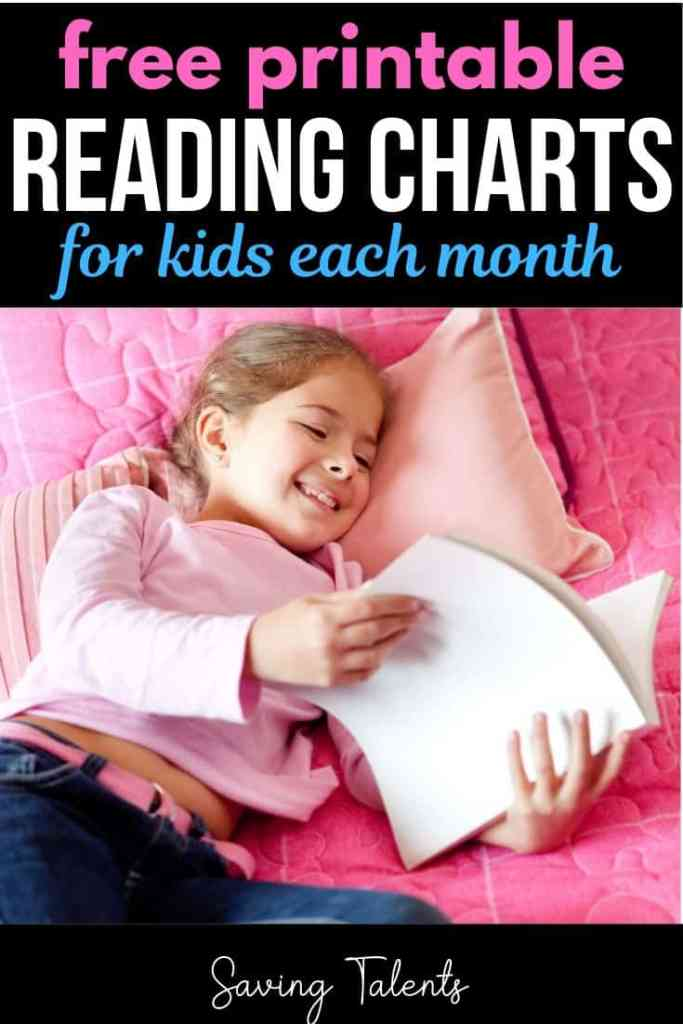 Free Monthly Reading Charts for Kids