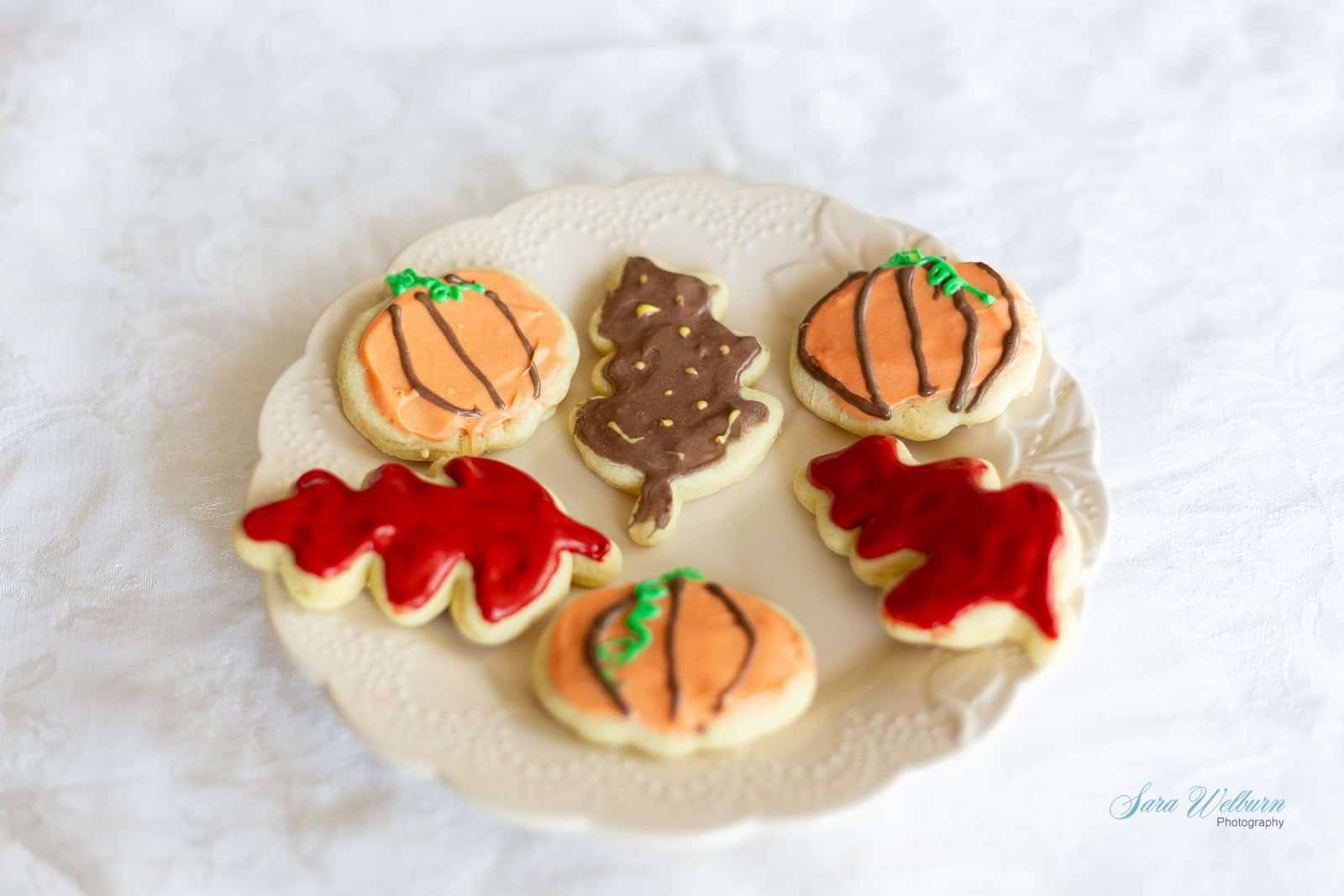 Fall Sour Cream Sugar Cookies with Cream Cheese Frosting