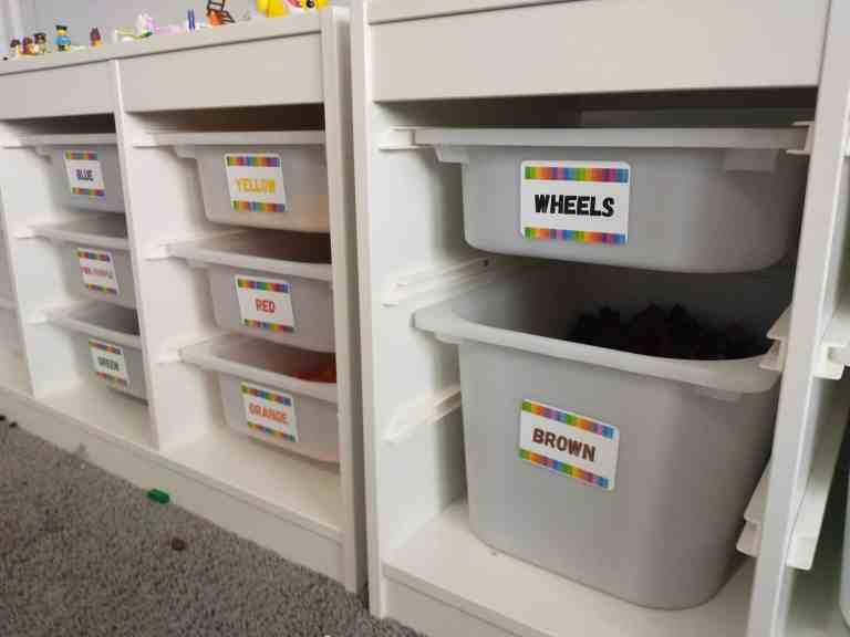 DIY LEGO Table Organization IKEA Hack