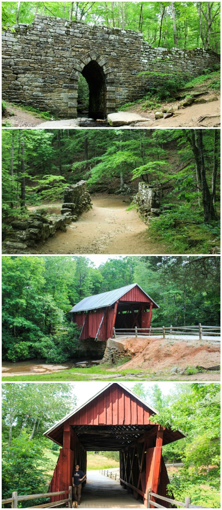poinsett bridge and campbells covered bridge greenville south carolina