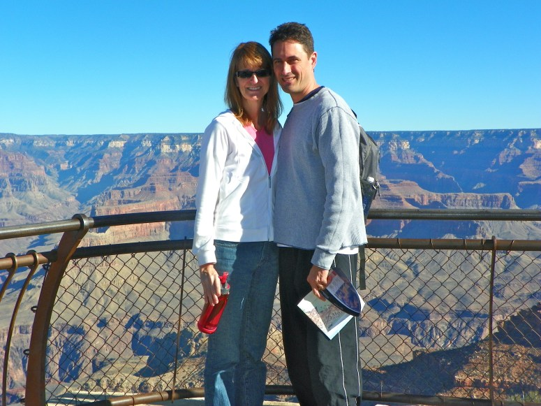 my parents at the grand canyon