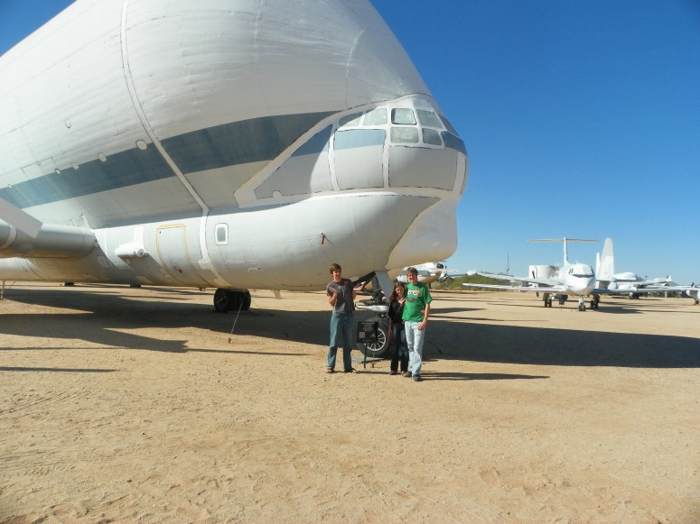 the super guppy at the pima air and space museum in tucson arizona