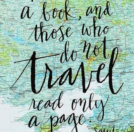 The World is a Book, and Those Who Do Not Travel Read Only One Page artwork