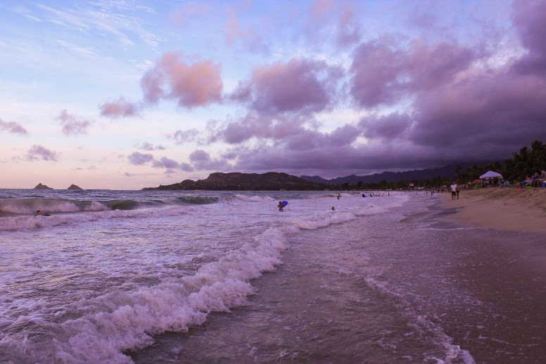 kailua beach sunset fourth of july independence day 2018