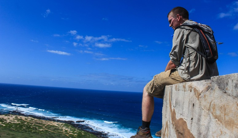 Hiking to the Kaena Point Pillboxes
