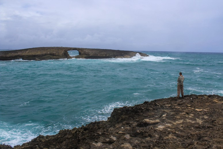 laie point state wayside arch rock laie oahu hawaii