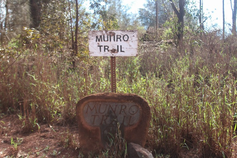 trail sign that reads Munro Trail