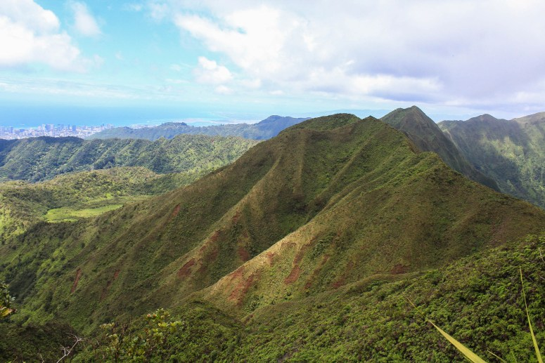 Hiking Lanipo Ridge Trail
