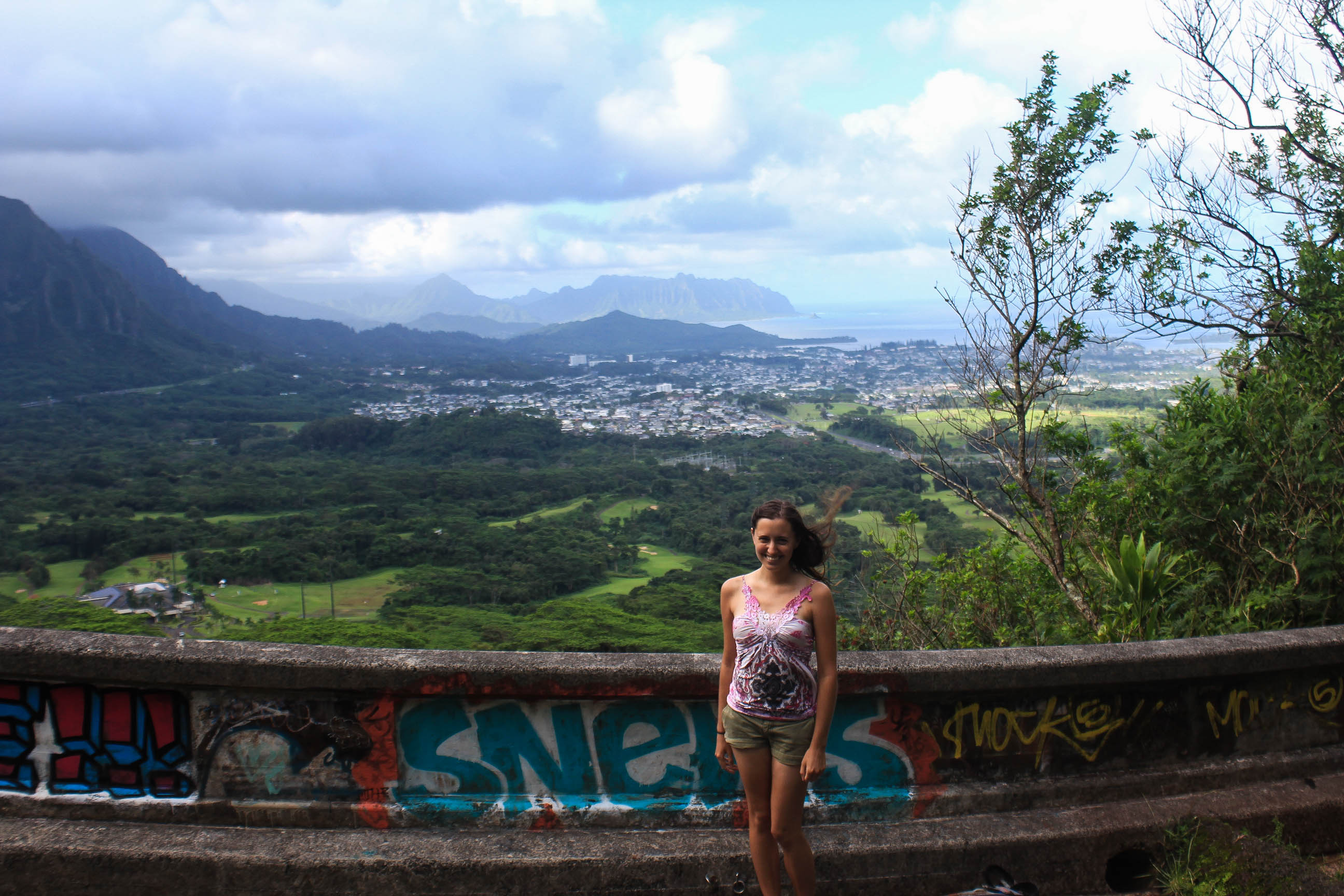 View from Old Pali Highway to Maunawili Trail